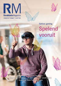 Cover Revalidatie Magazine (RM) nr. 1 2020: Serious gaming: spelend vooruit
